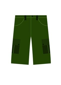 Shorts pants (green)