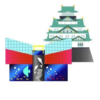 Osaka Castle and Osaka