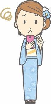 Yukata female a - suffer troubled - whole body