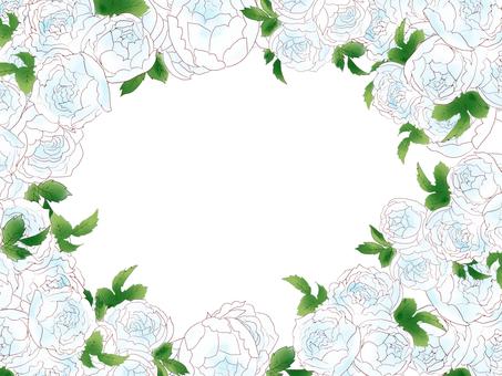 White Rose Frame