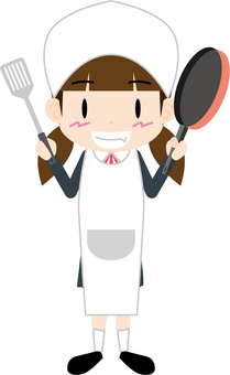Female student (cooking)