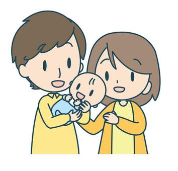 赤ちゃんと3