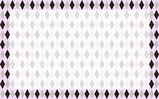 菱形框架黑色粉紅色