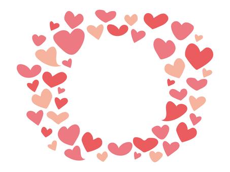 Heart frame pink valentine