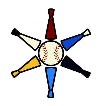 棒球球棒和球2的插圖
