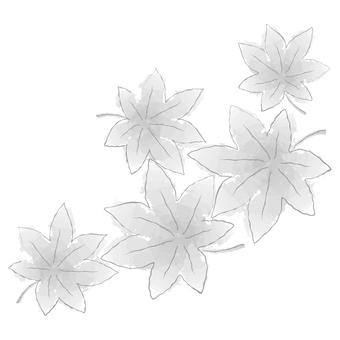 단풍 -02 흑백