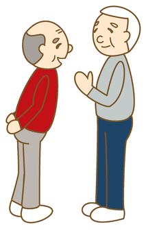 Seniors talk about chatting ②