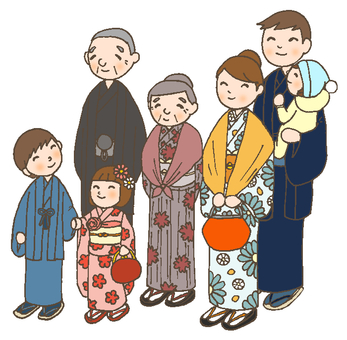 Hatsumōde with a family