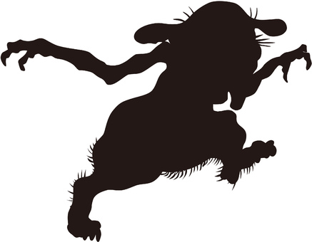 Ukiyo-e character silhouette part 87