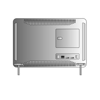 Back of integrated computer