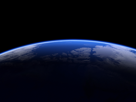 High-definition blue edge of the earth