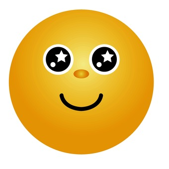 Emoticons with sparkling eyes