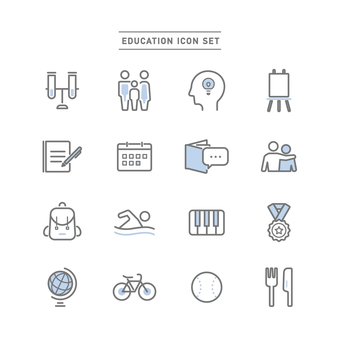 EDUCATION ICON SET