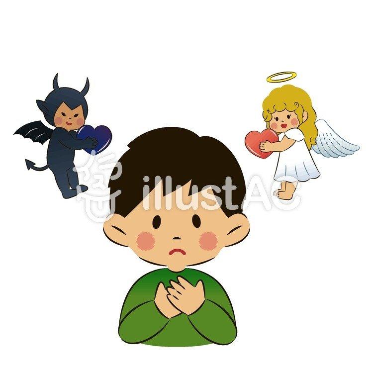 天使と悪魔イラスト No 852364無料イラストならイラストac