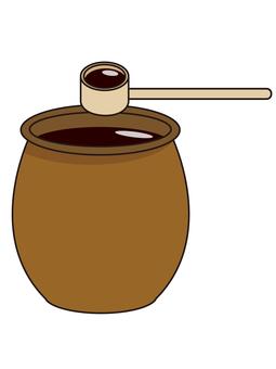 Black vinegar, soy sauce jar