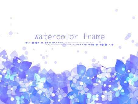 Hydrangea frame 02 / purple