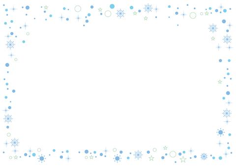 Glitter frame 02_ blue