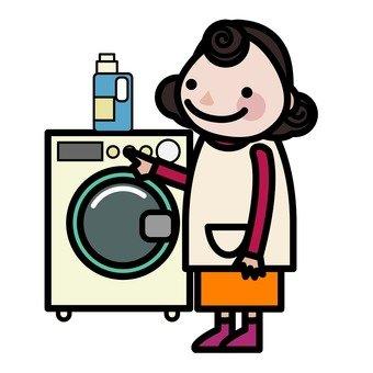 세탁 엄마
