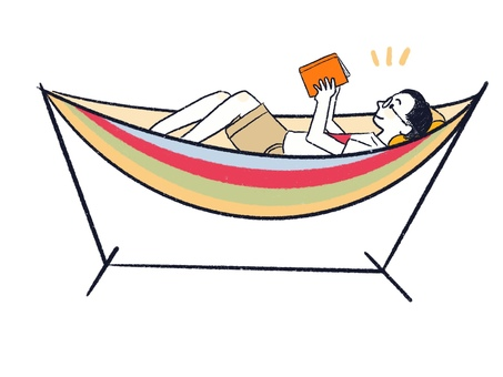 Lay on a hammock and read outdoors