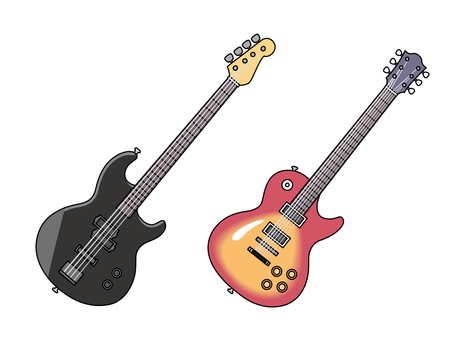 Electric guitar & bass guitar