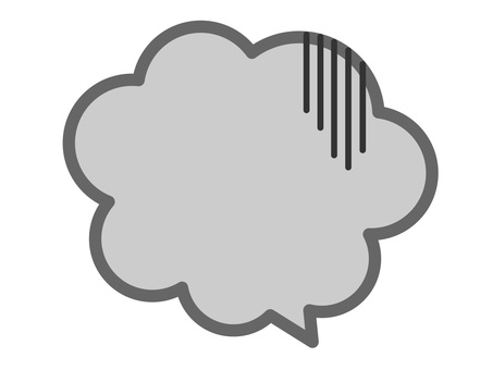 (Transparent) gray disappointing mokumoku speech bubble