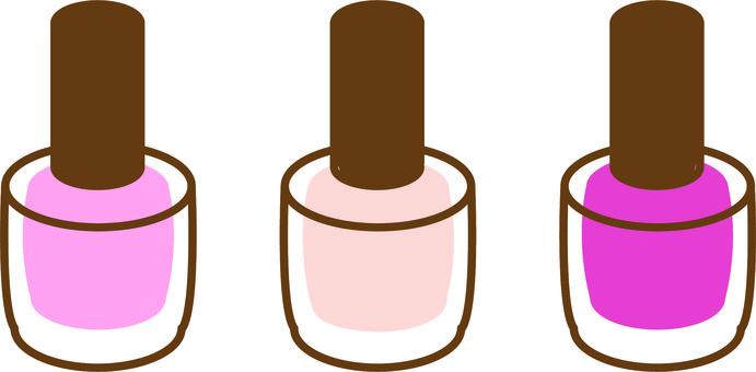 3 pink nails