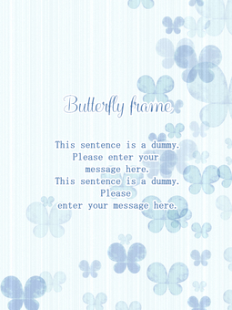 나비의 프레임 01 / 블루 a