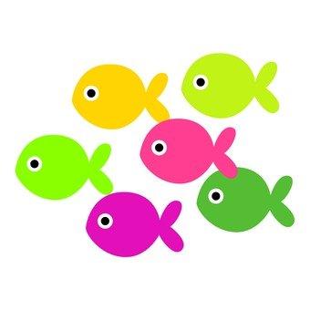 Colorful fish herd 2