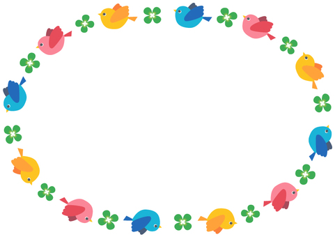 Frame (little bird and clover)