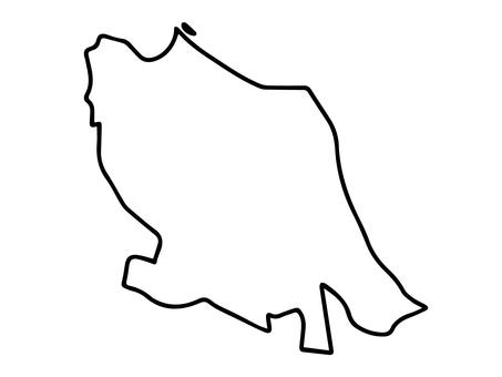 Nakahara-ku (Kawasaki City, Kanagawa Prefecture) simple map