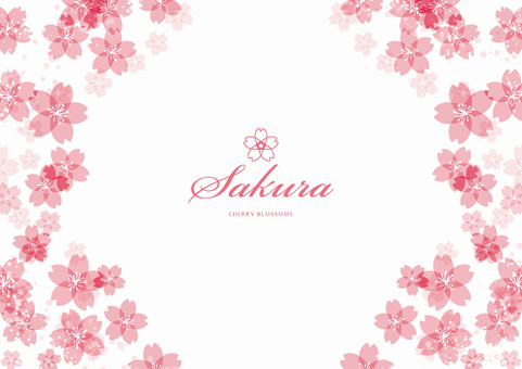 Spring background frame 004 Sakura White