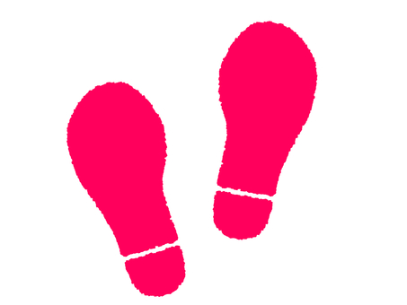 Pink Footprint