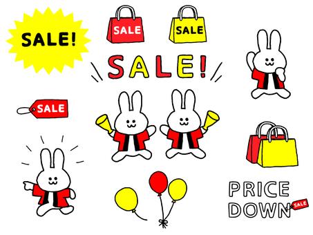 Sale rabbit clerk set (simple)
