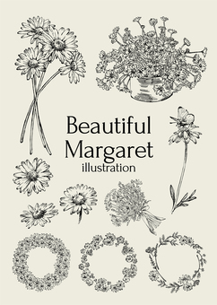 Beautiful Margaret Illustration