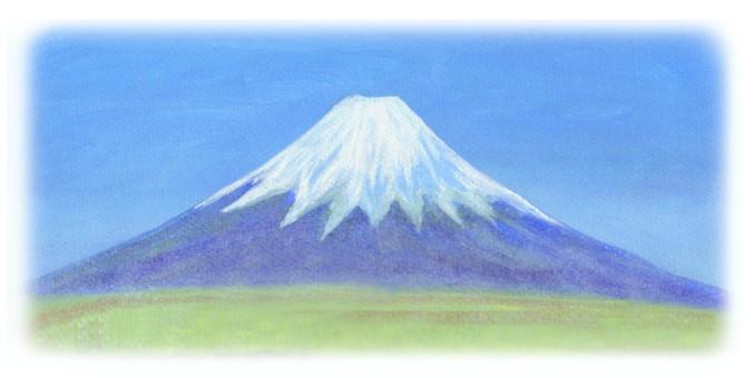 Mount Fuji and grassland