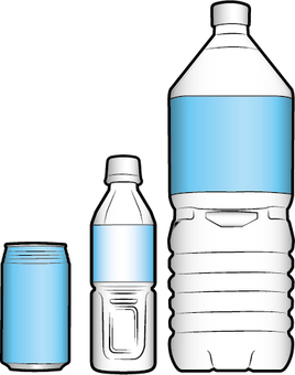 PET bottles and cans