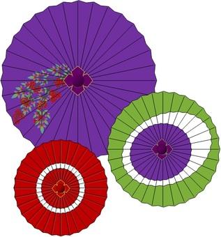 Japanese umbrella, snake's eye, umbrella