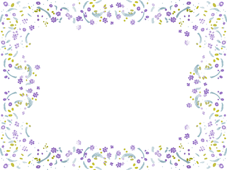 Watercolor floral frame ⑥
