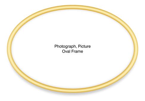 Elliptic frame (gold) sideways
