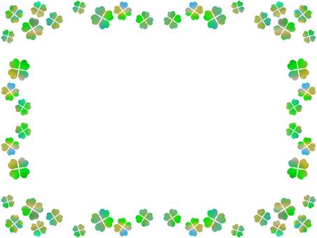 Four leaf clover frame