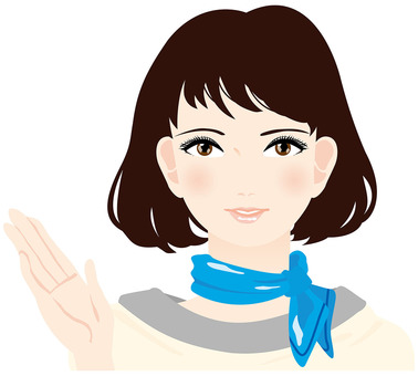 Illustration of a receptionist lady