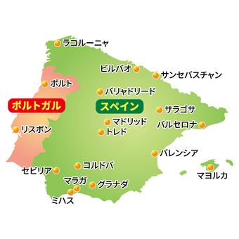 Spain · Portugal Map