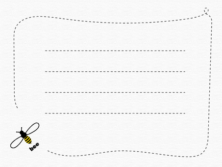 Message card _ bee 1