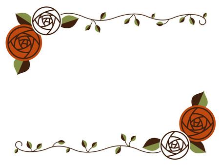 Orange rose frame