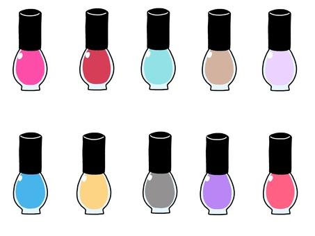 Manicure illustration set