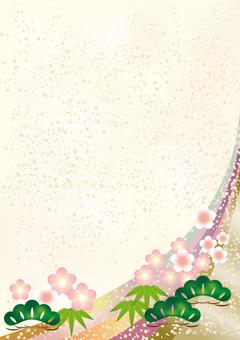 New Year Pattern Shochiku Mei 6