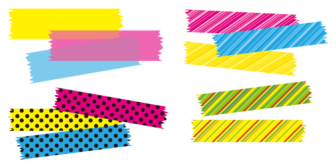 Flashy masking tape