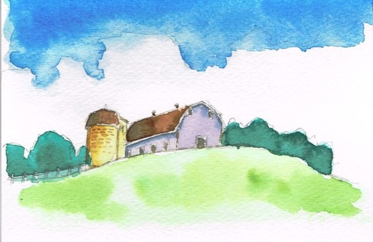 Silo watercolor