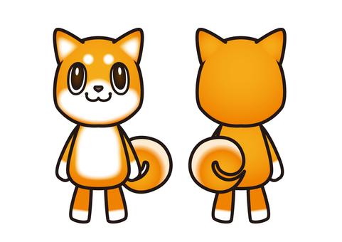 With main line _ Shiba Inu character