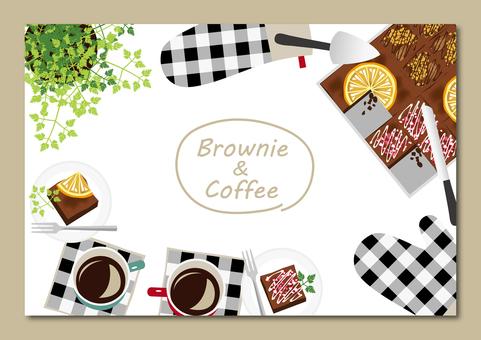 手工製作的巧克力蛋糕和咖啡賀卡